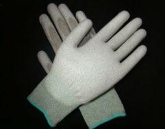 ESD PU Palm Fit Gloves Carbon Fiber