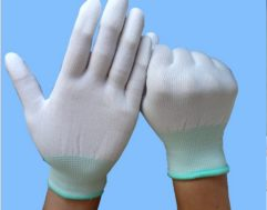 Polyester ESD Carbon Fiber Gloves of High Electricity Carbon Yarns