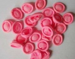 100% Pink Natural Latex ESD Finger Cots Without Powder